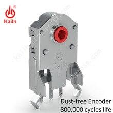Kailh 7/8/9/10/11/12mm souris rotative roue de défilement encodeur 1.74mm trou 20 40g force pour PC souris alpes encodeur 800,000 cycles de vie