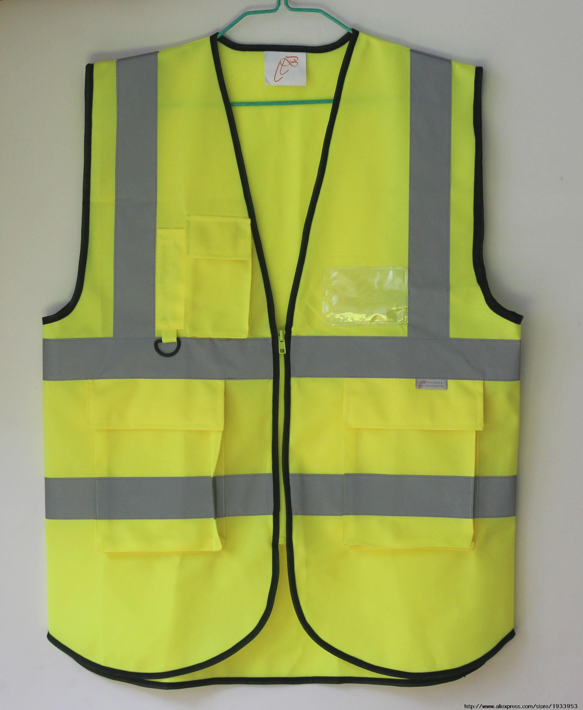 Reflective safety vest traffic safety warning ...