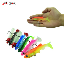 1pcs/pcak Soft Lead Fish 8cm/12.5g T-Shape Tail Fishing Bait lures with 2 Hooks Fly Pesca Cheap Lure
