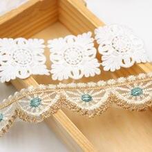 6 цветов специальная белая Водорастворимая кружевная отделка