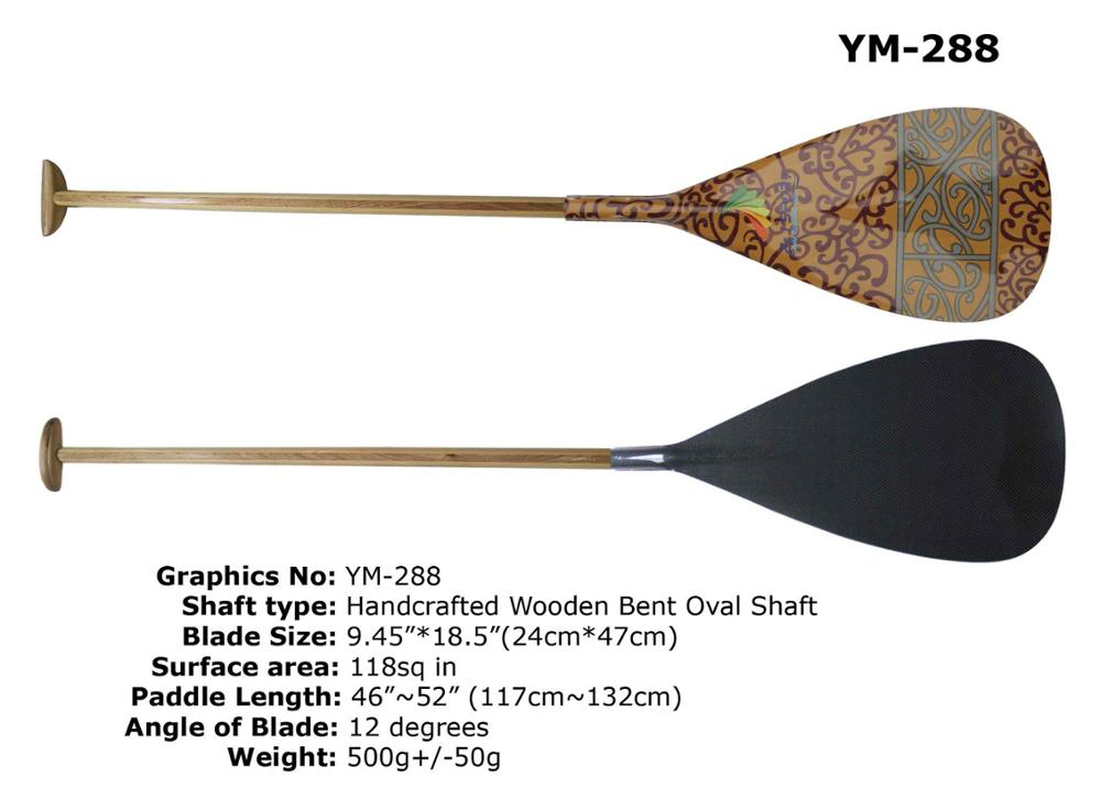 US $130 0  Hawaii Type Hot Sales Hybrid Carbon Graphics Blade Outrigger  Canoe Paddle In Wooden Shaft For Sale-in Surfing from Sports &  Entertainment