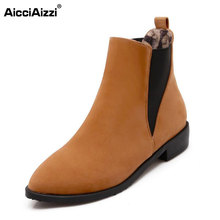size 34-47 women round toe flat ankle boots autumn winter warm martin bota sexy leisure boot woman quality footwear shoes P21872