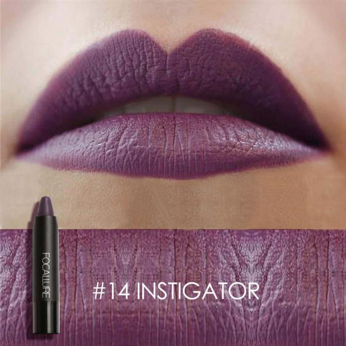 High Quality Focallure Women Matte Lipstick Pen Waterproof Long-lasting Cosmetic Nude Lady Lips Makeup Lipsticks well 21