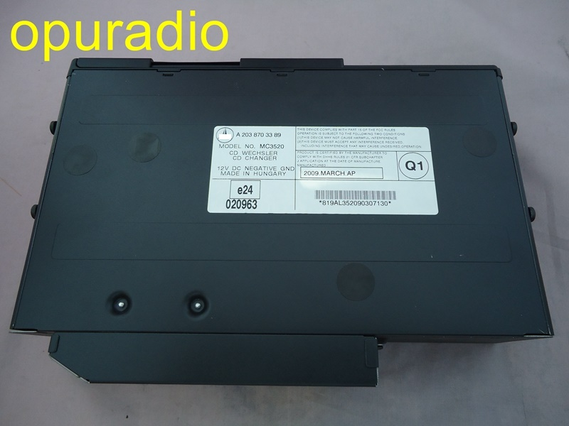 Free EMS DHL Alpine 6 CD changer A2038703389 Class 1 laser product for Mercedes W220 S430