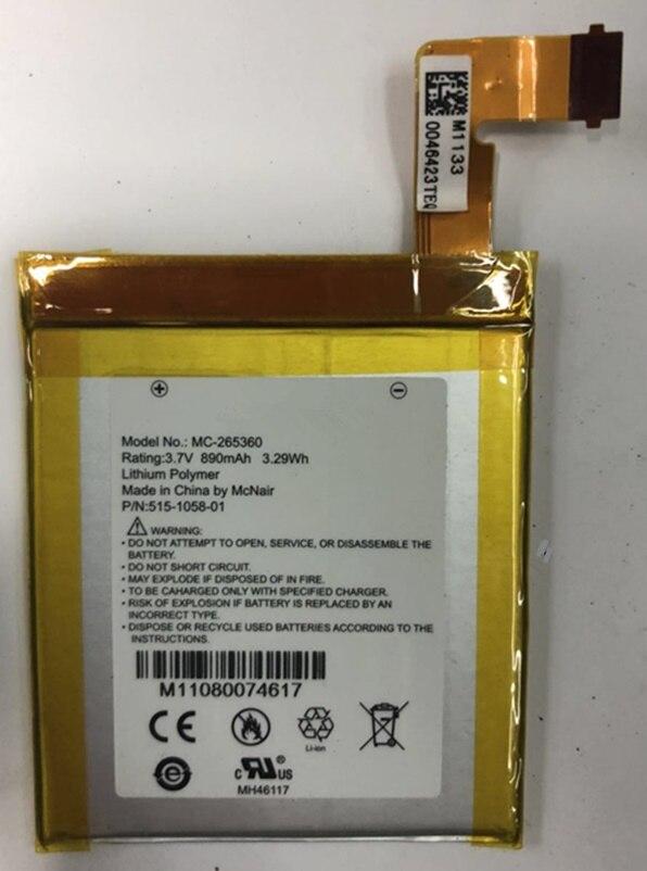 Bateria de polímero de lítio de alta qualidade para amazon kindle 4 MC-265360 D01100 S2011-001-S DR-A015 bateria