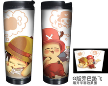 Anime One Piece Chopper Double Insulation Mug Coffee plastic Space mugs Free Shipping