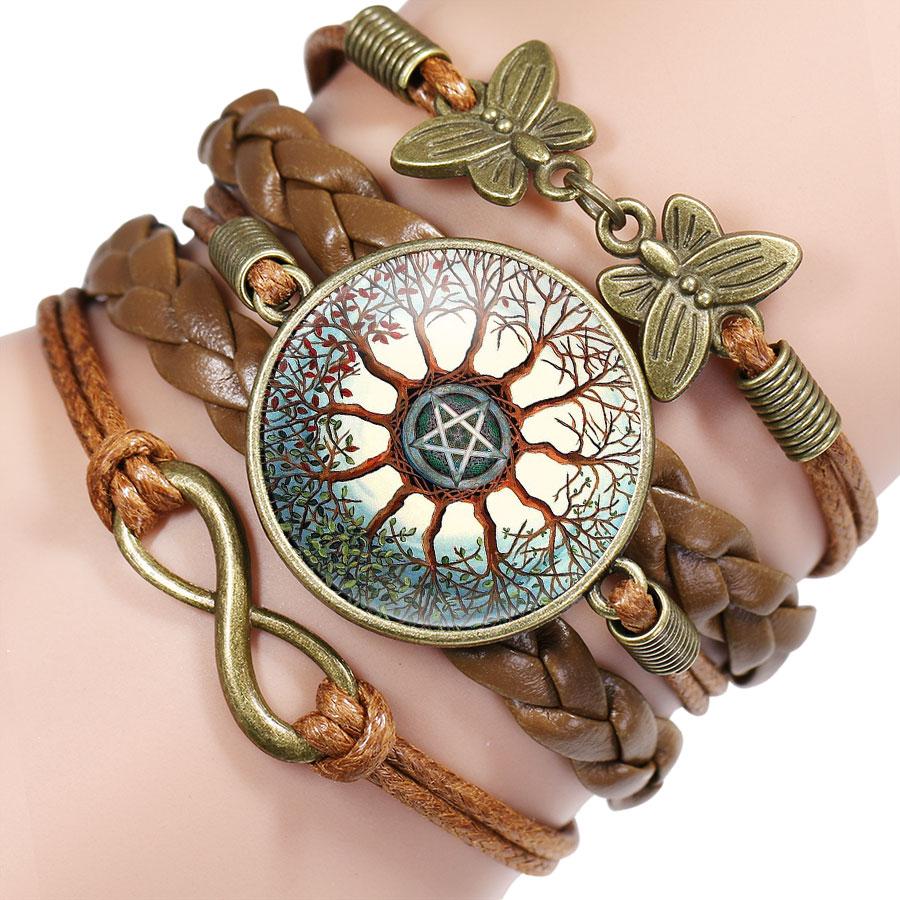Free - Pentagram Satanic Glass Bracelet - Fancy N Love