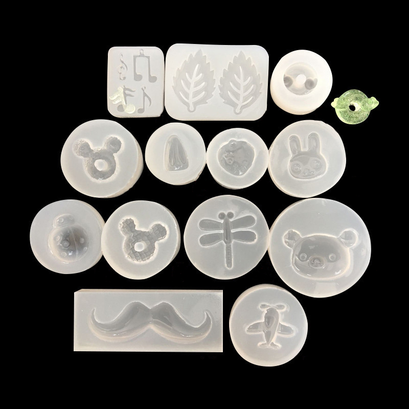 1pcs UV Resin Jewelry Liquid Silicone Mold Airplane Leaves Strawberry Dragonfly Resin Charms Mold For DIY Jewelry Making Mold