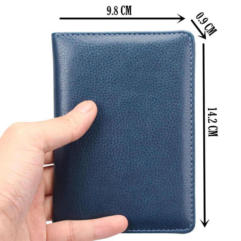 Funda de cuero para pasaporte KUDIAN BEAR portatarjetas de viaje para hombre Cartera de tarjeta de crédito funda para documentos-BIH014 PM49