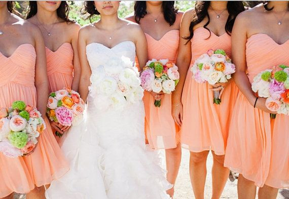 401518d21 Turquoise Bridesmaid Dresses Coral Blue Chiffon Short Pleated ...