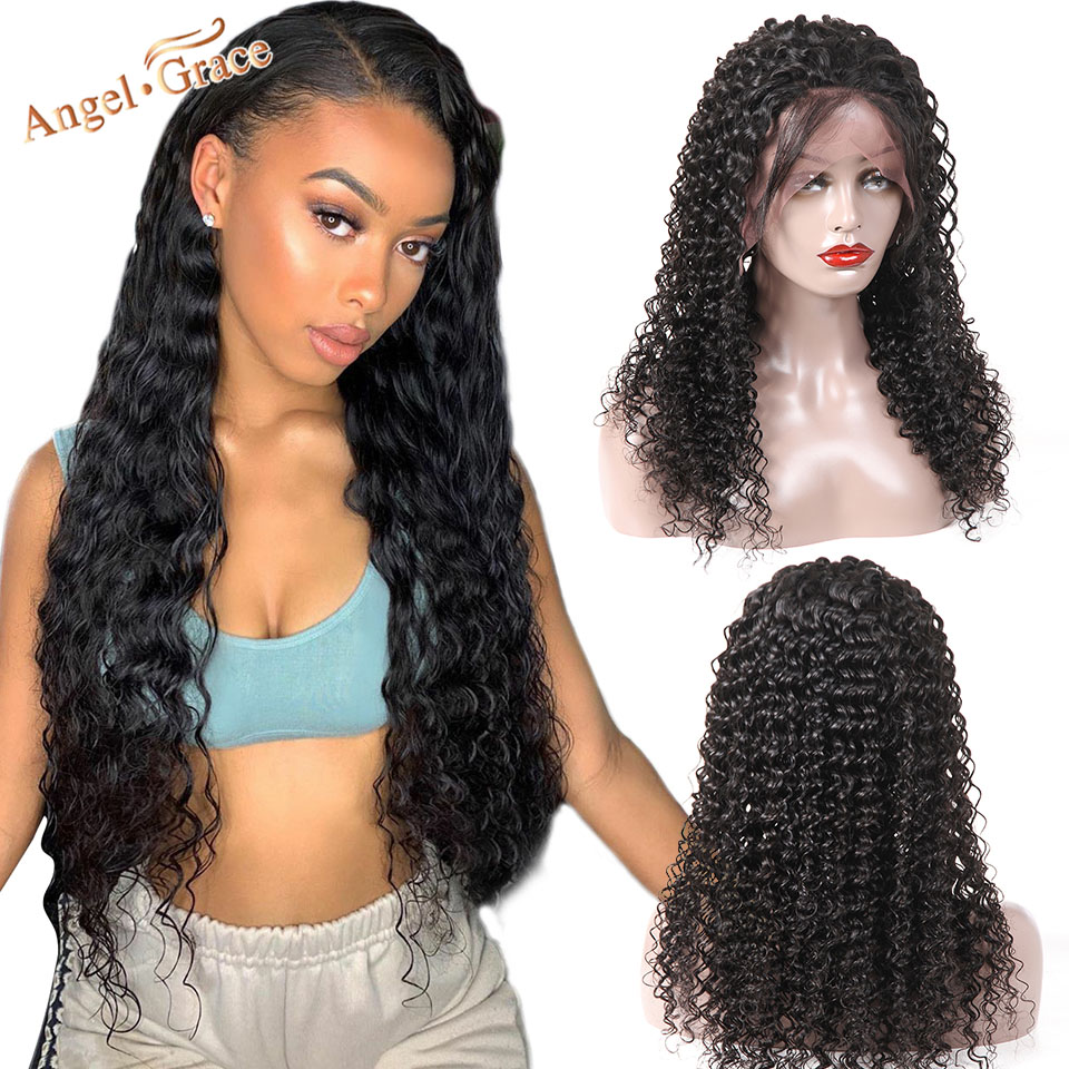 Angel Grace Hair Brazilian Deep Wave Lace Front Wig Human Hair Lace Front Wigs With Lace
