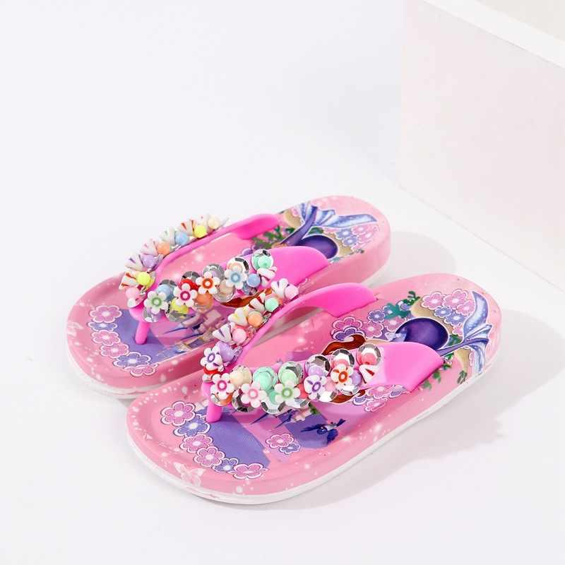 2019 yeni Prenses Sandalet, Bebek Ayakkabıları, çocuk Balıksırtı Plaj Yumuşak tabanlı Destek Ayakkabı