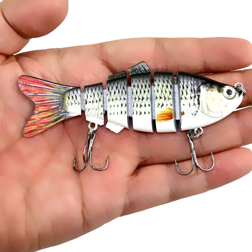 YOUGLE Fishing Lure 6 Segment Lifelike Trouts Swimbait Multi Jointed Artificial Bait Crankbait Hard Bait Tackle with Treble Hook mmlong 6 5 39g new pike fishing lure lifelike crankbait multi jointed swimbait realistice hard fish bait tackle pesca mml12b
