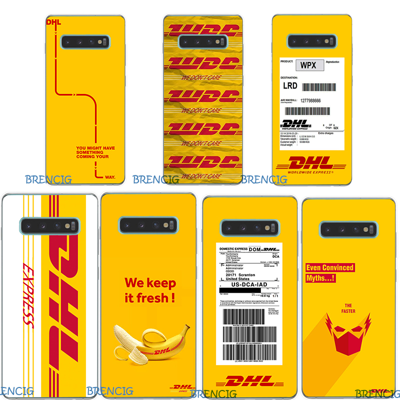 For Samsung Galaxy S10 Plus Case Silicone TPU Soft Phone Case For Samsung Galaxy S10 Lite S 10 S10e Yellow  Logo DHL Case Capa