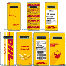 For Samsung Galaxy S10 Plus Case Silicone TPU Soft Phone Lite S 10 S10e Yellow  Logo DHL Capa