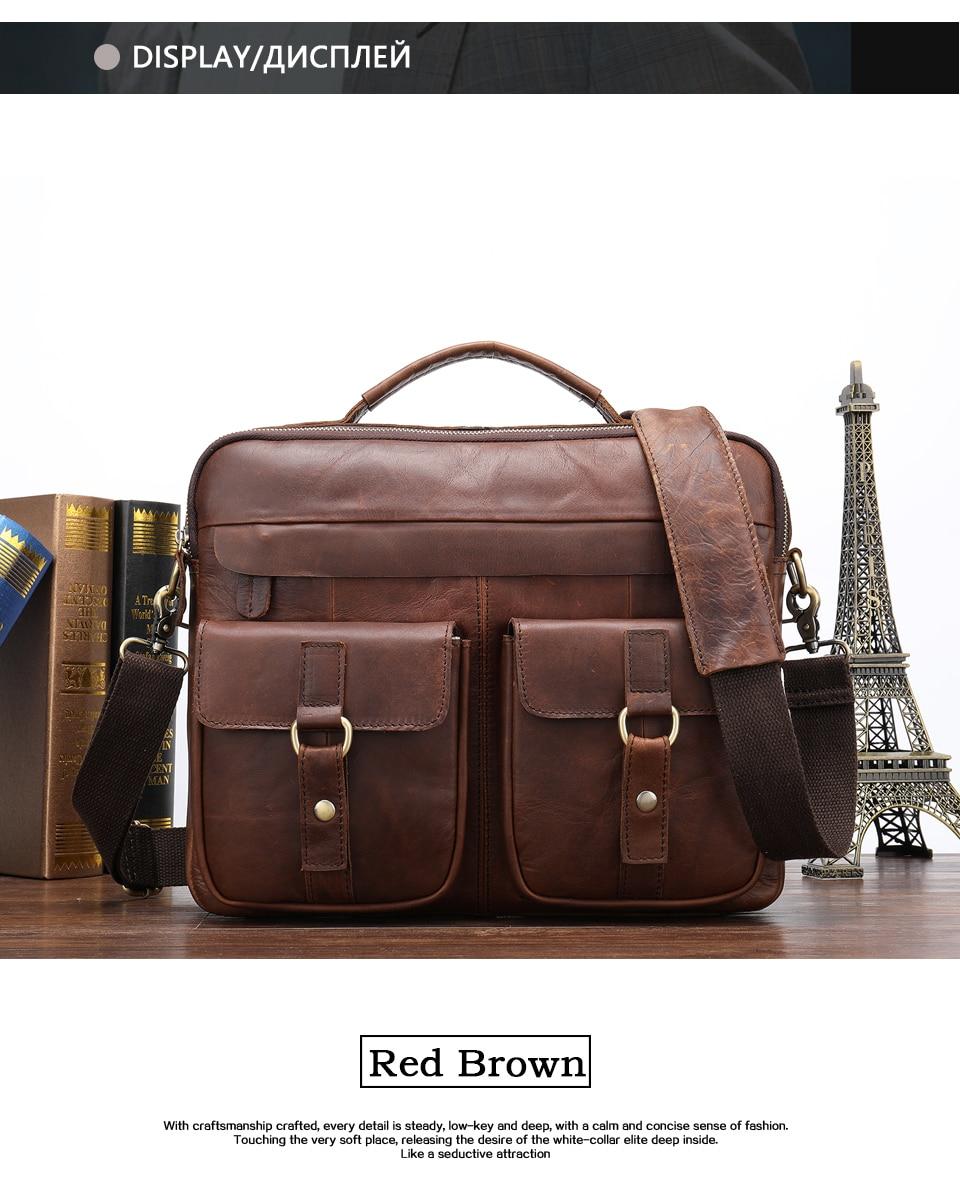 30b8e83e3c81 Male Briefcase Men S Genuine Leather Laptop Messenger Bag For Men ...