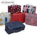 2017 Cremallera Impermeable Cubos de Embalaje de Poliéster Hombres y Mujeres Viajan Bolsas de Equipaje de Viaje Maleta Grande Organizador De Lavandería