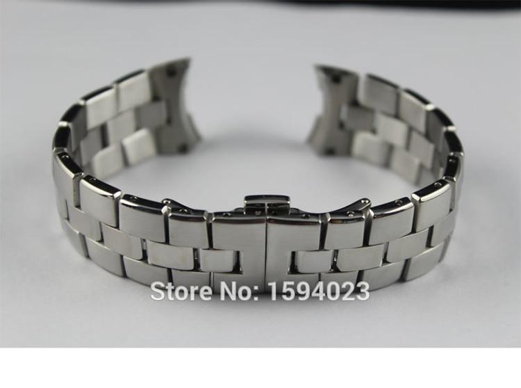 21мм T076417A Новый часы запчасти Мужской твердые нержавеющей стальной браслет ремешок полосы для T076417 Бесплатная доставка