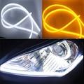 2 Pçs/lote 30 CM Tubo Flexível levou Faixa Branca Daytime Running Luz DRL do carro-styling suave Farol Do Carro Universal luzes