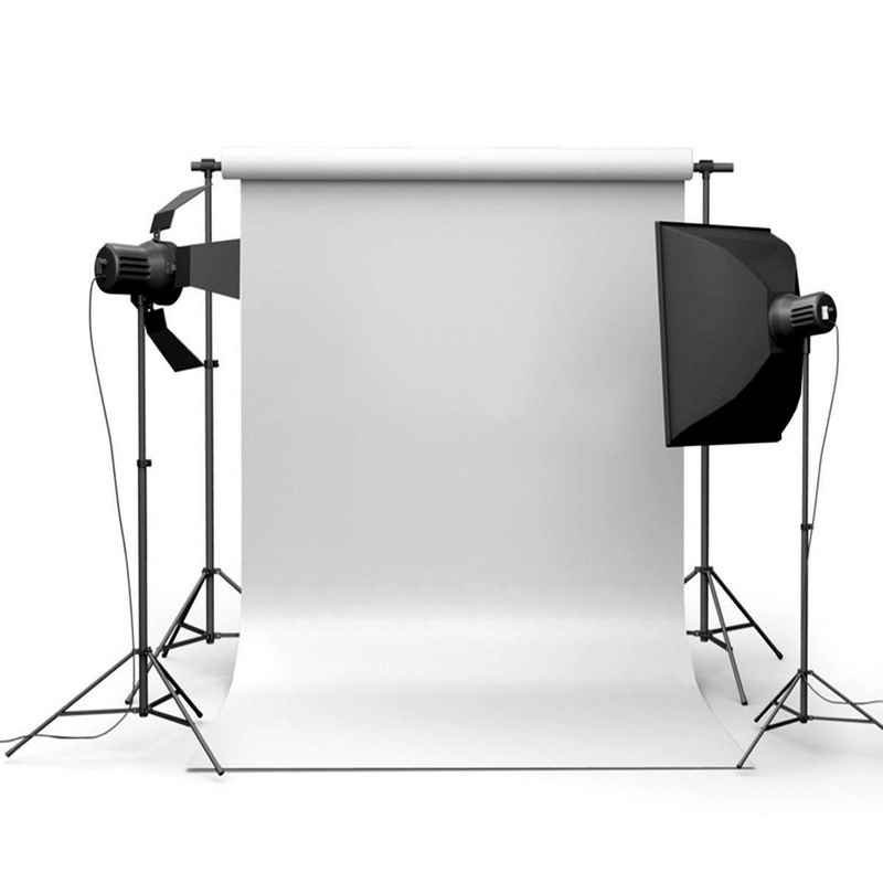 Mayitr 3x5ft Pure White Wall Photography Background Vinyl High Quality Backdrop For Studio Photo Prop
