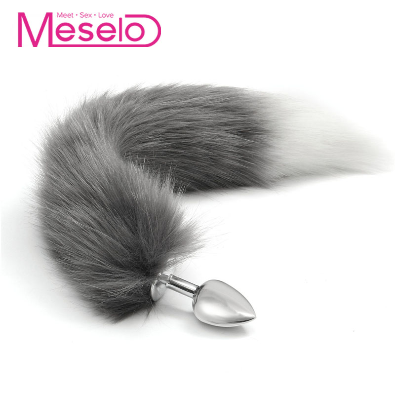 c103d9302 Meselo Fox Tail Anal Butt Plug Soft Faux Fur Anal Sex Toys For Women Adult  Game Couple Flirting Anus Plugs Erotic Product