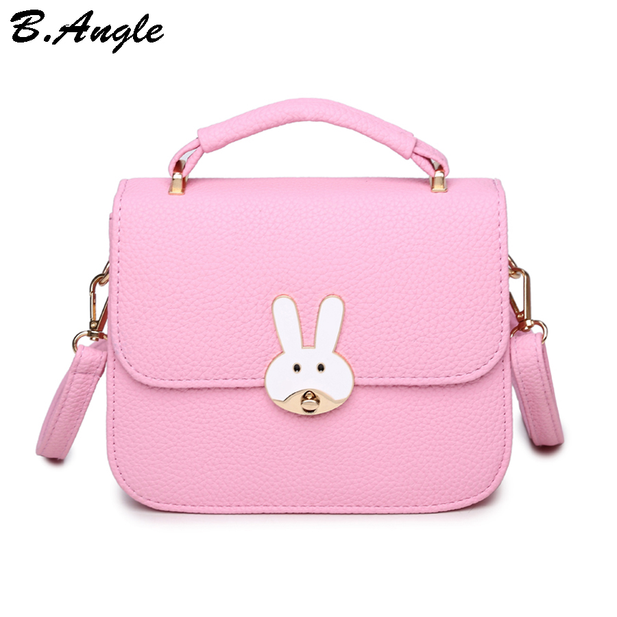 Messenger bags for high school - High Quality Rabbit Button Women Bag Candy Color Messenger Bag Flap Bag School Bag Dollar Price