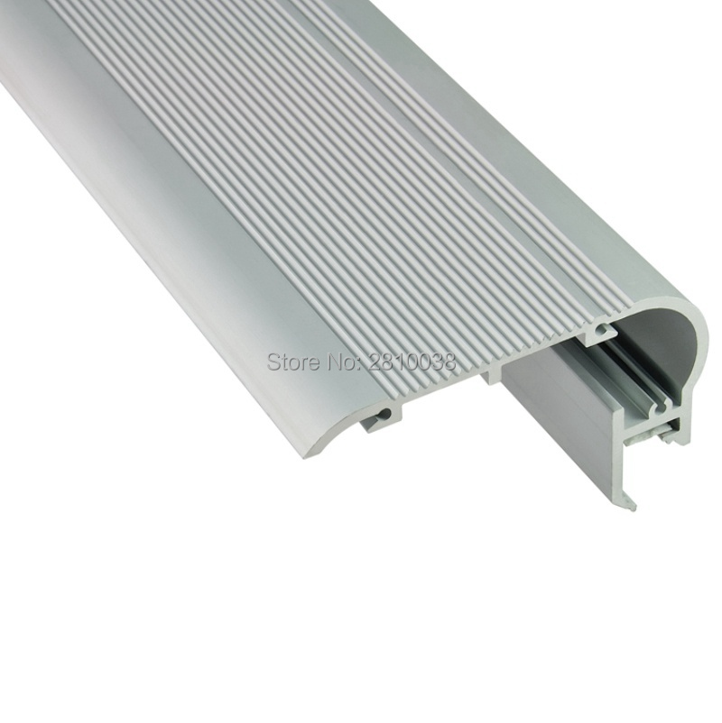 15 X 1M Sets/Lot Anodized led aluminum channels and Extruded stairway led aluminium profil 1mt for step stairs lights