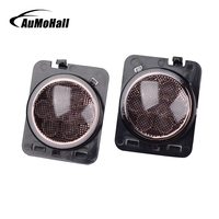 AuMoHall Amber Front Turn Signal Light Eyebrow Front Fender Flare LED Light Wheel Rims Car Styling