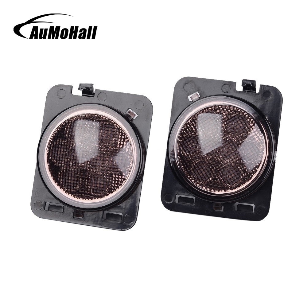 AuMoHall Amber Front Turn Signal Light Eyebrow Front Fender Flare LED Light Wheel Rims Car Styling for Off Road Accessories front hub city road lion disc brakes front wheel tire rims