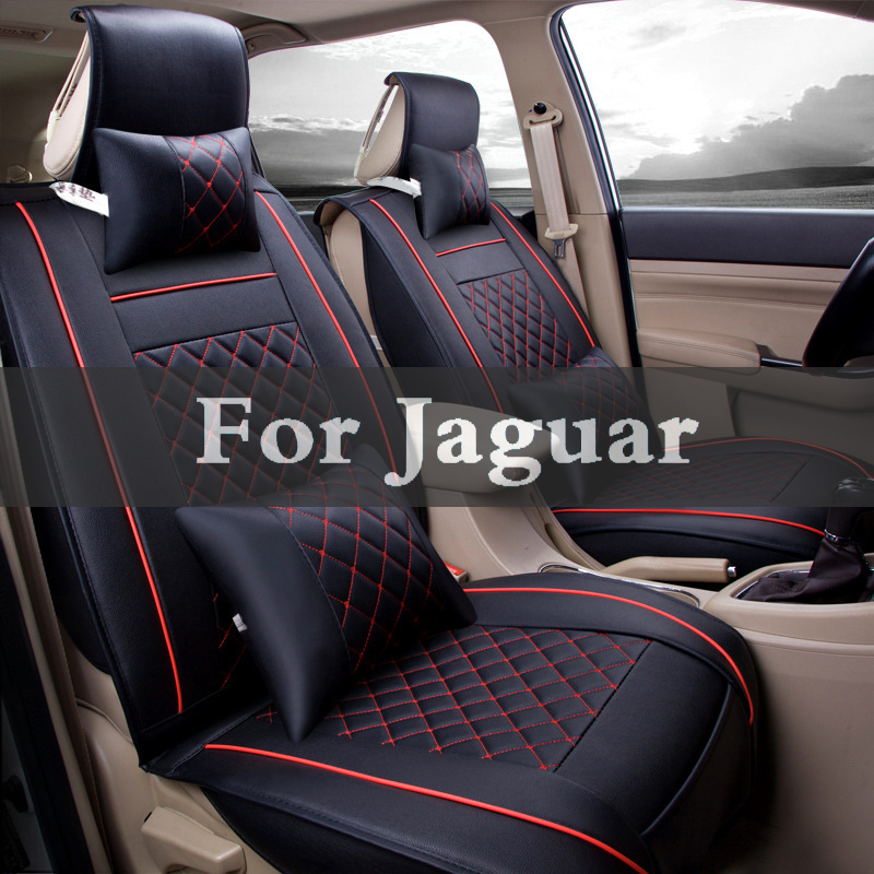 1set Pu Leather Car Seat Cover Striped Cushion Cover For Jaguar F-Pace Xf Xj Xjr Xfr Xk Xkr F-Type Xe S-Type X-Type