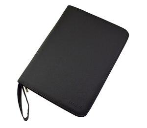 Image 2 - Качественная авторучка/Ручка роллер сумка пенал для 48 ручек черный кожаный держатель для ручек/мешочек
