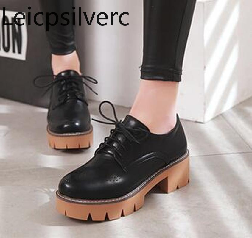 Pumps Spring and autumn new style Round head Low-top shoes Thick heel Low-heeled casual womens shoes plus size 33-43Pumps Spring and autumn new style Round head Low-top shoes Thick heel Low-heeled casual womens shoes plus size 33-43