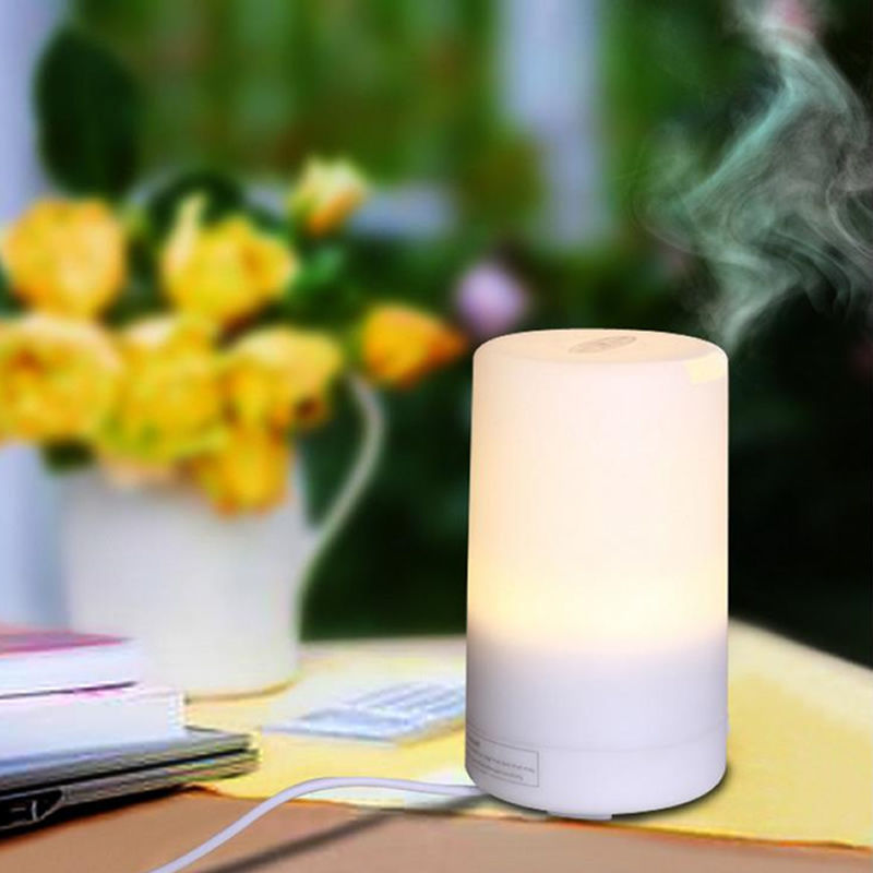 Mini USB Essential Oil Ultrasonic LED Air Humidifier Aromatherapy Aroma Diffuser hot sale humidifier aromatherapy essential oil 100 240v 100ml water capacity 20 30 square meters ultrasonic 12w 13 13 9 5cm