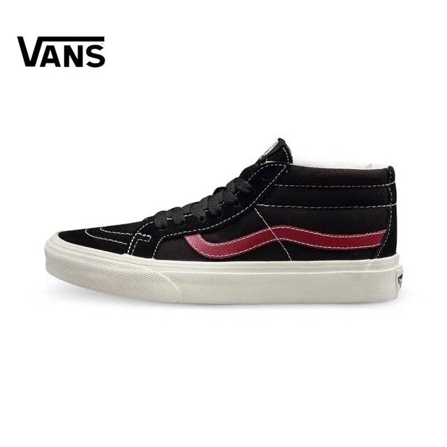 Authentic Vans SK8-MID Skateboarding Shoes,Canvas Shoes,VANS Off The Wall Men/Women Sports Shoes SX12 Size Eur 36-44