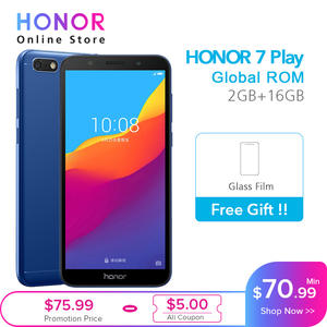 Huawei Honor 7 Play 2G 16G 4G LTE MT6739 Quad Core 5.45 Inch 1440*720 P 13.0MP