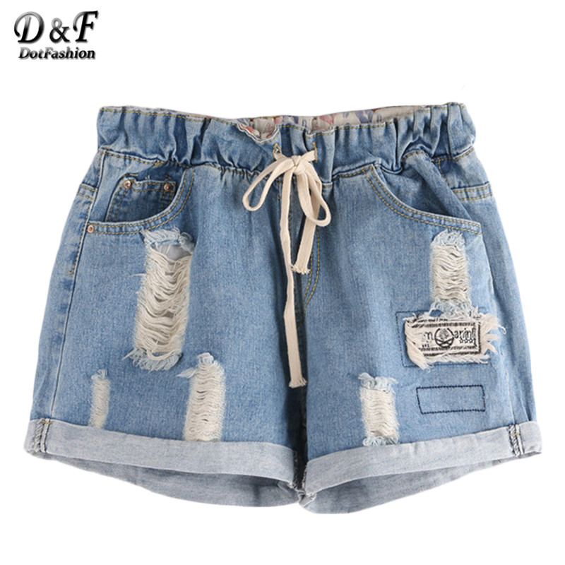 Popular Drawstring Denim Shorts-Buy Cheap Drawstring Denim Shorts ...