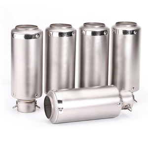 Image 1 - 51mm 60mm Universal Motorcycle GP Escape Motorcross Scooter SC Exhaust Pipe Muffler For FZ6 Ninja cbr650f cb400 s1000r pcx 125