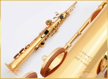 Soprano Saxophone B flat Electrophoresis Gold Top Musical Instruments YSS-475 Soprano Sax  professional grade free shipping
