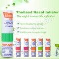 8 peças tailândia vara inalador nasal inalador óleo essencial composto curar congestão nasal alívio motion sickness