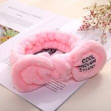 Cute Plush Rabbit Ear Hair Band Makeup Face Wash Lady Headband Bathroom