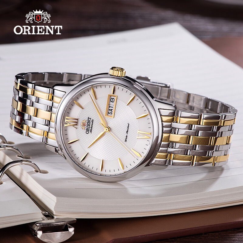English Calendar Original ORIENT Automatic Mechanical Watch 50M Waterproof  Stainless Steel Strap Business WatchEnglish Calendar Original ORIENT Automatic Mechanical Watch 50M Waterproof  Stainless Steel Strap Business Watch