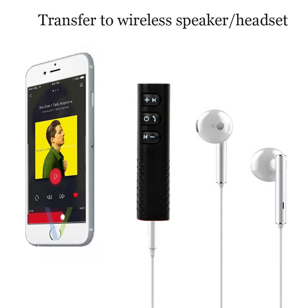 Vexverm 3,5mm Jack Aux manos libres inalámbrico receptor Bluetooth para coche Kit adaptador para auriculares MP3 de música y Audio receptor adaptador