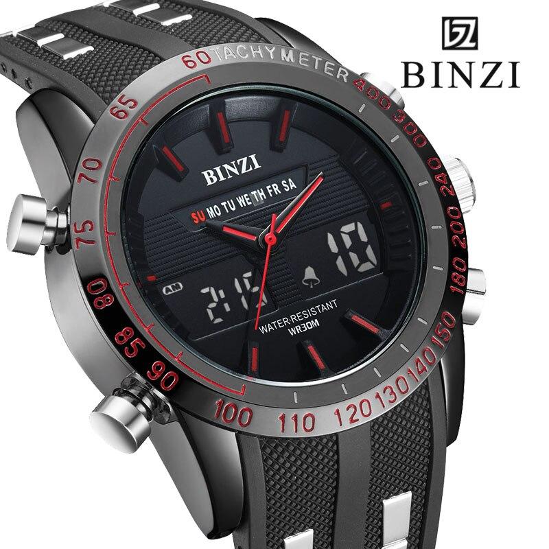 Sports Watches Men BINZI Fashion Casual Digital LED Men Wrist Watch Mens Military Electronic Male Clock