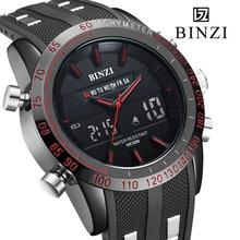 Relojes deportivos Hombres BINZI Moda Casual Digital LED Hombres Del Reloj de Mens Militar Reloj Masculino Electrónica Militar Relogio masculino