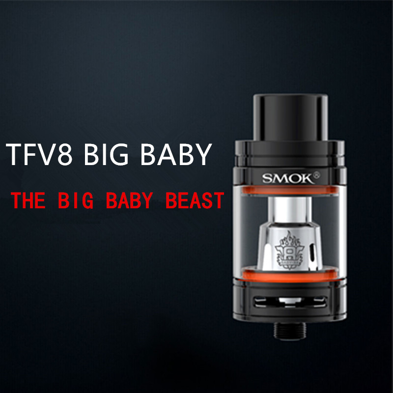 100% Original Smok TFV8 big Baby Top-filling Adjustable Airflow Beast Tank The 5ML fit SMOK G-priv 200W and Alien