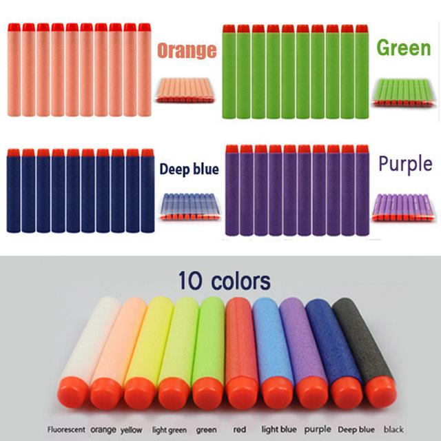 Hot Sale 100 pcs Mix Color Refill Bullets Dart For Elite Series Blasters Refill Soft Bullet Toy Gun