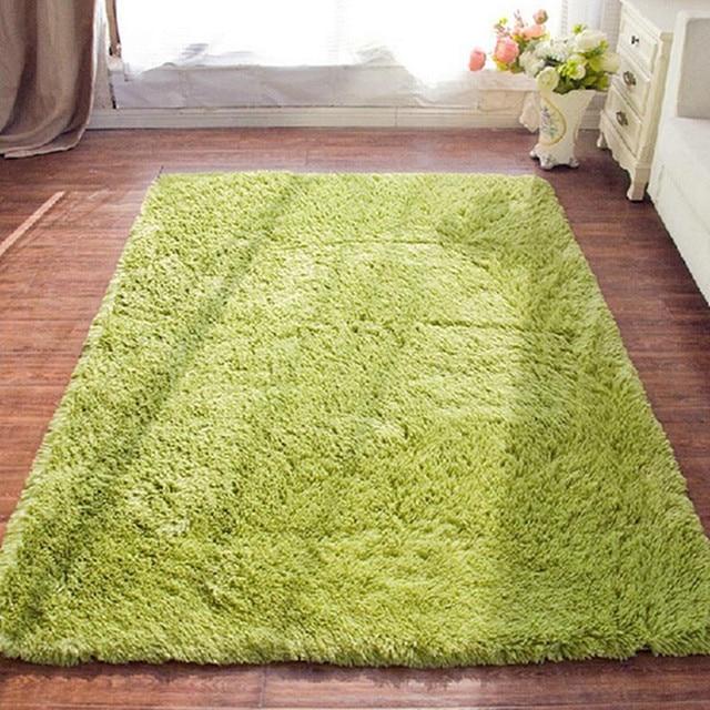 Plush Soft Shaggy Alfombras Carpet Faux Fur Area Rug Non Slip Floor Mats  For Living
