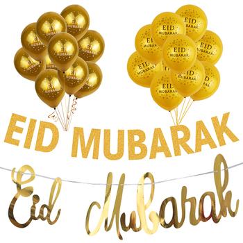 Złota Ramadan Kareem dekoracja Eid Mubarak Banner i balony Eid Ramadan Party Favor Eid al-fitr Ramadan Mubarak Decor tanie i dobre opinie joy-enlife CN (pochodzenie) Papier Ślub i Zaręczyny Chrzest chrzciny St Świętego patryka Wielkie Wydarzenie Emeryturę