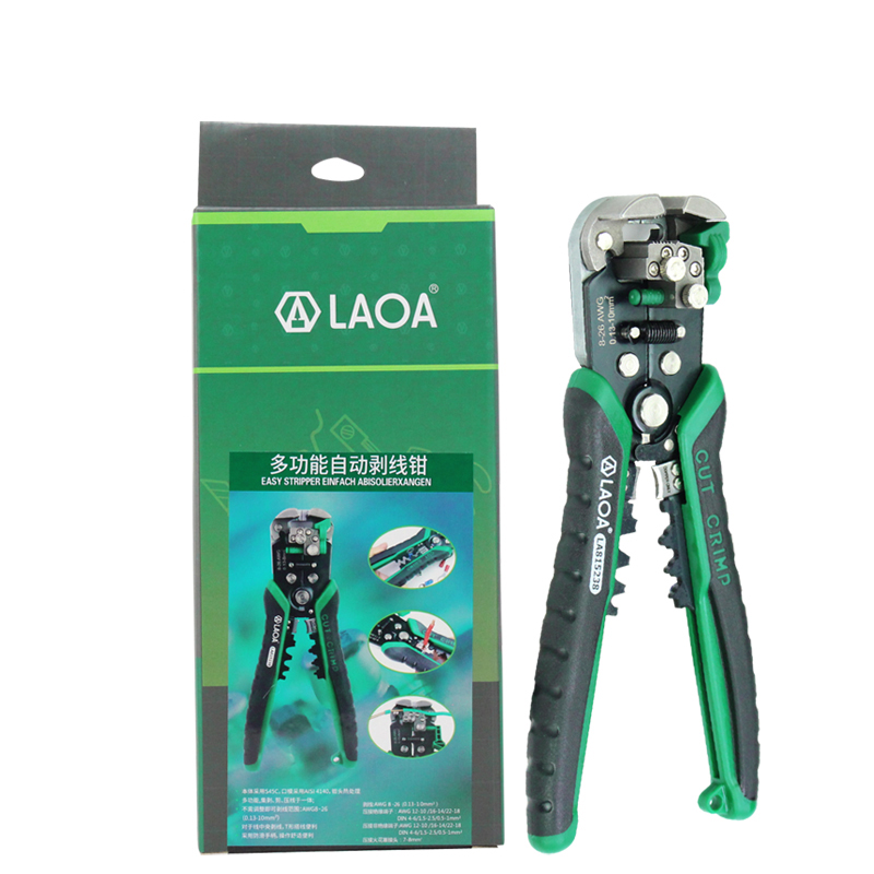 Купить с кэшбэком LAOA Wire Stripper Tools Professional Electrical Automatic Cable Stripping Wire Cutter Tools for Electrician Crimpping
