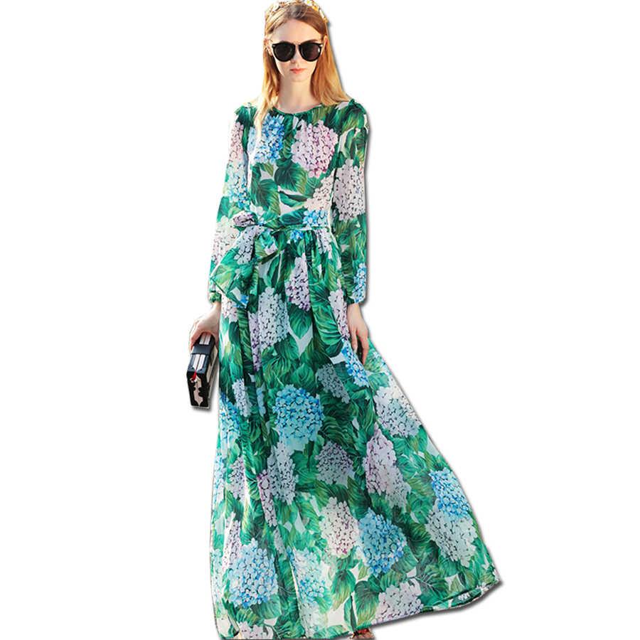 3bbd7afeba92e Detail Feedback Questions about Blue Lemon Print Maxi Chiffon Dress ...